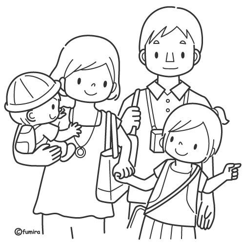 Familie Kleurplaat Desenho Familia Desenhos Para Pintar