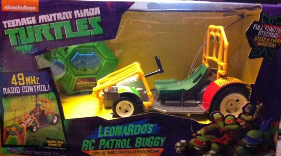 TMNT Leonardo Remote Control Patrol Buggy Car Radio Teenage Mutant Ninja Turtles #Playmates