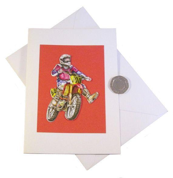 Motocross Birthday Card Male Card Scrambler Card Off Road