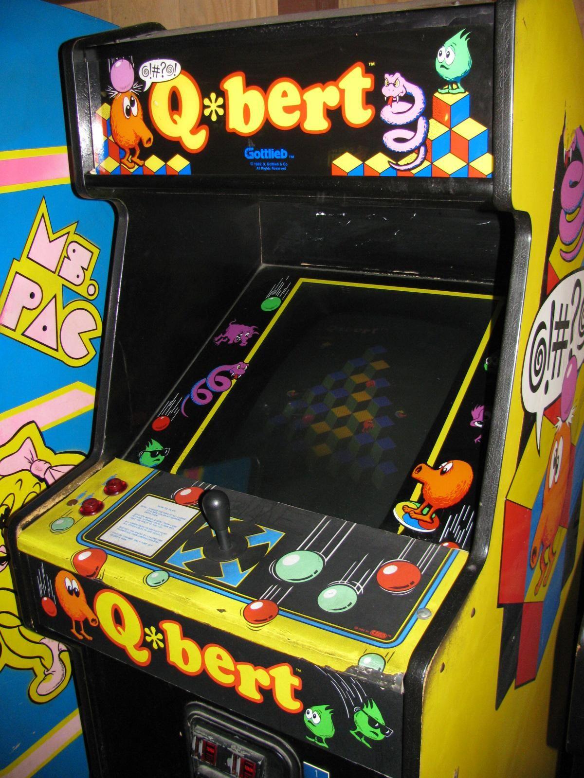 Q*bert.. I own a computer game of it. Old school arcade