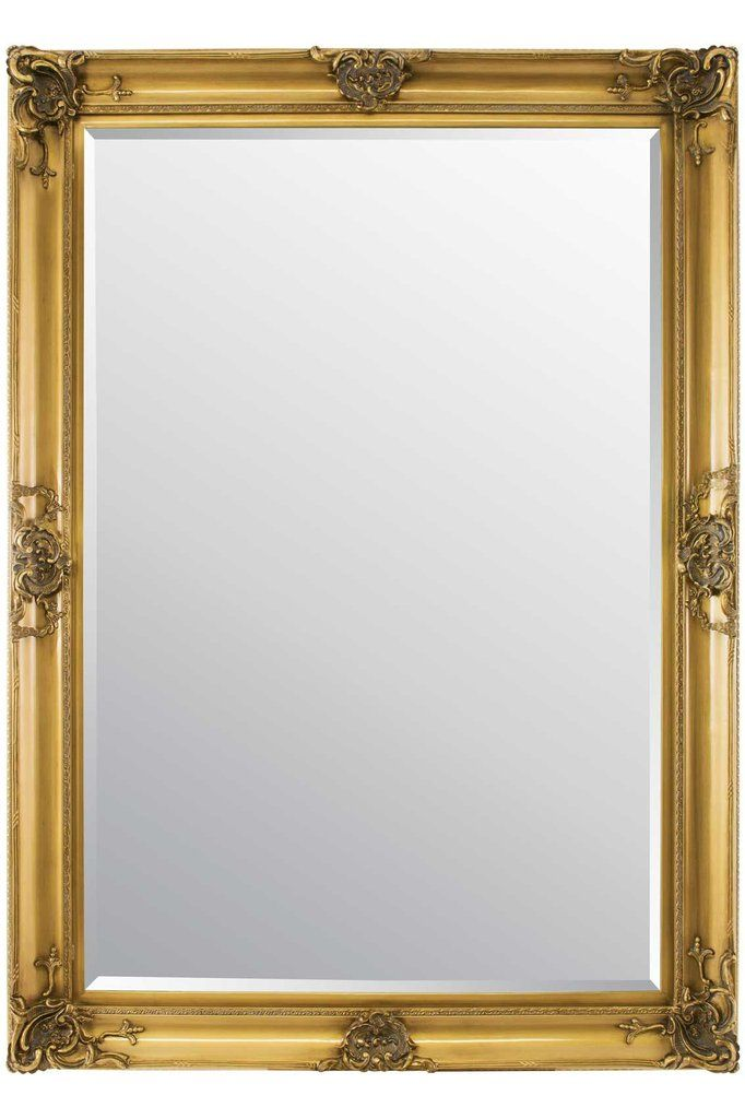 Extra Large Gold Classic Detailed Bevelled Mirror With Images Mirror Beveled Mirror Large Mirror
