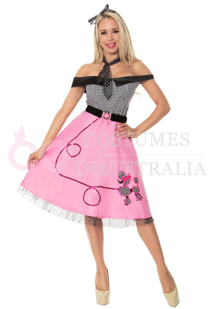 1950s 50s Grease Poodle Vintage Rock Polka Roll Dot Skirt Fancy ...