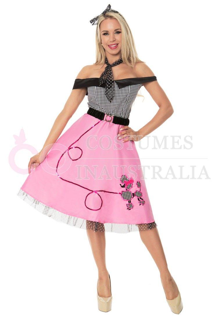 1950s 50s Grease Poodle Vintage Rock Polka Roll Dot Skirt Fancy ...
