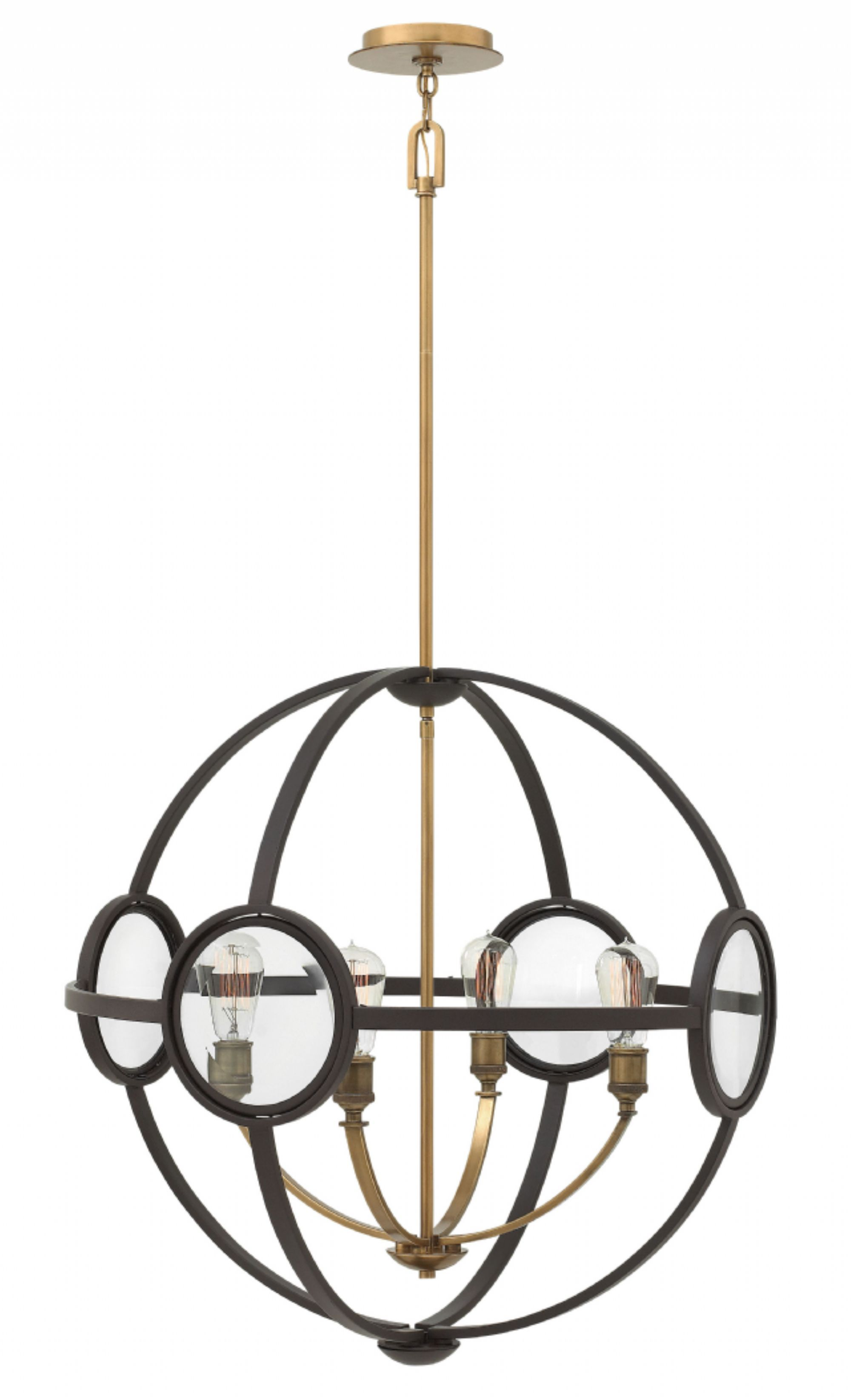 This Fixture Combines Two Major Trends Mixed Metals And Orb Shaped Lighting