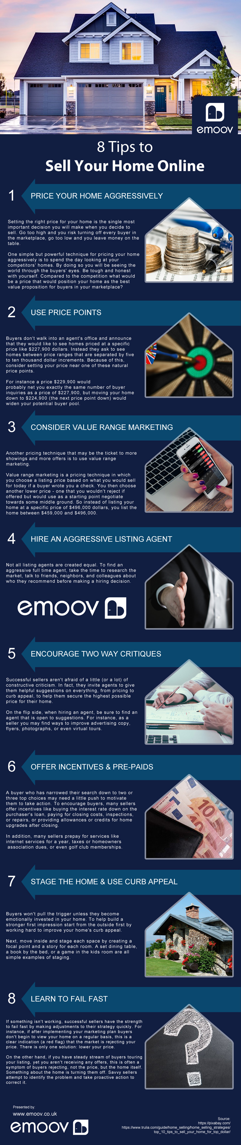 8 Tips To Sell Your Home Online Things To Sell Infographic