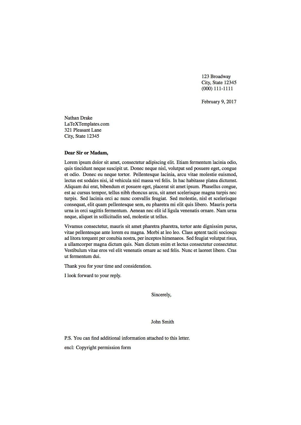 Formal Letter Template Word Best Of Template for A formal