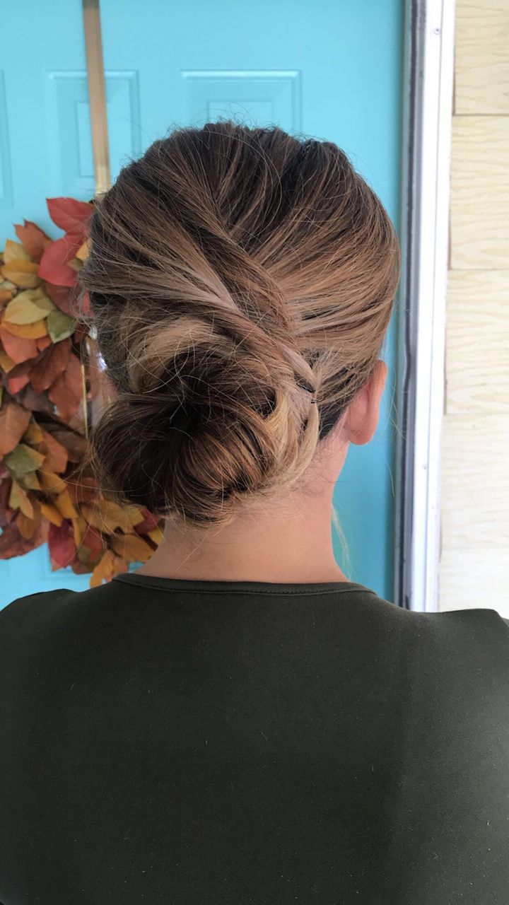 A romantic twisted updo hairstyle when you want to feel a little