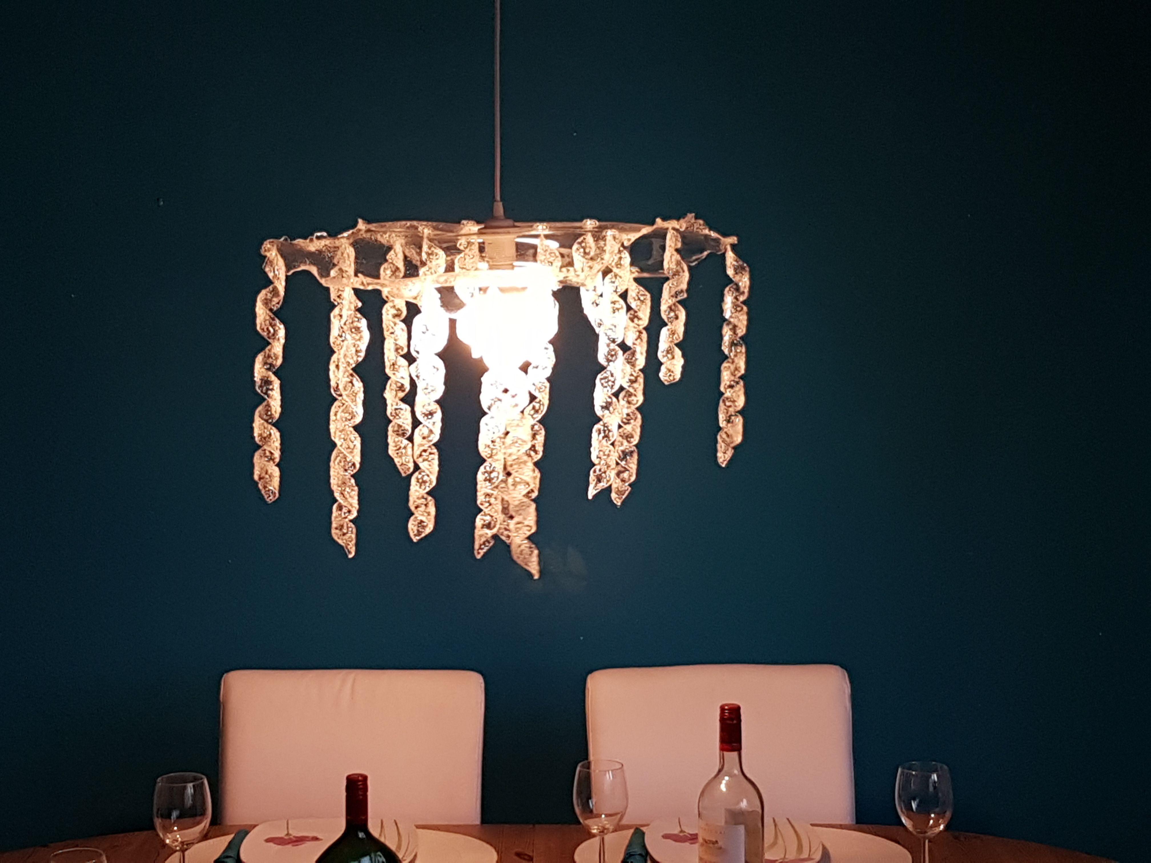 Handgemachte Lampe Aus Acrylglas Spirale Plexiglas Lampe Diy Deckenlampe Durchsichtig Blumchen Dekorativ Wohnzimme Deckenlampe Lampe Led Leuchtmittel