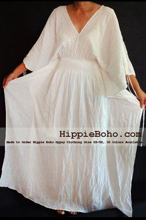 b0f8ca88c95 No.013 - Size XS-5X Hippie Boho Caftan White Pagan Greek Maxi Dresses  Women s Plus Size Clothing Bohemian Long Dress
