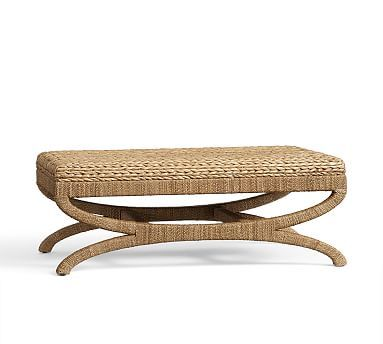Seagrass Coffee Table Ottoman Potterybarn 46 25 Quot W X 29 Quot D