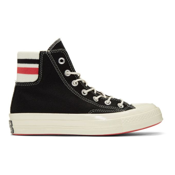 ab2cfe00b8c Converse Black Wool Knit Back Chuck 70 High Sneakers in 2019