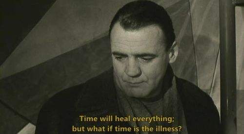 """Wings of Desire (1987), """"they say that time heals, but what if time is the illness?"""""""