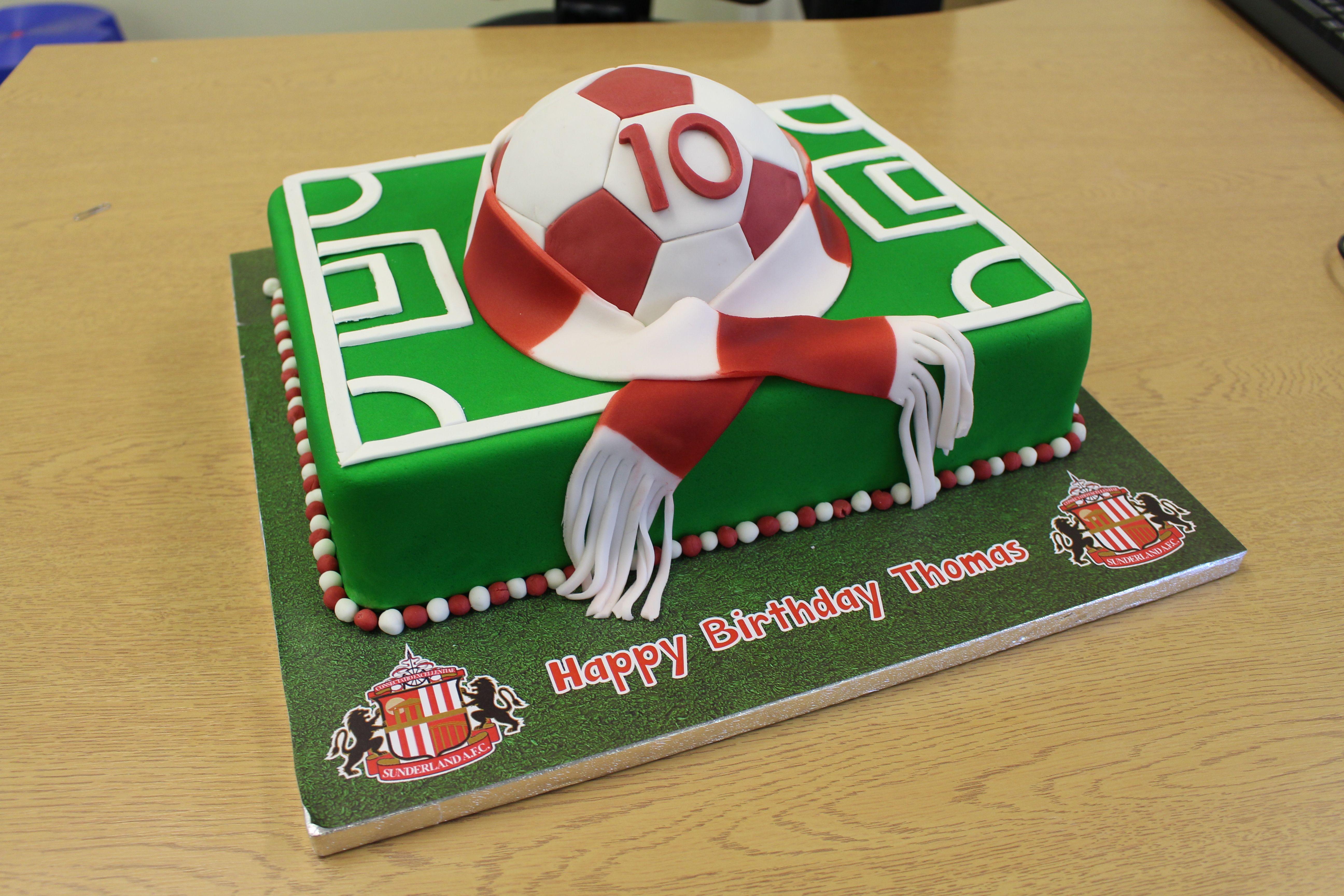 Sunderland Football Club Birthday Cake Football Cakes Pinterest