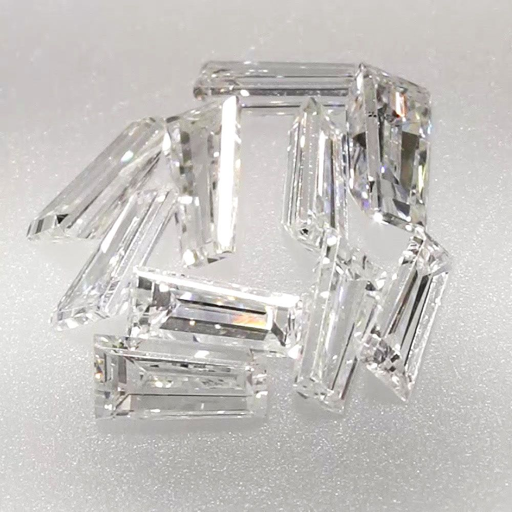 0.048 ct Tapered Baguette Cut F Color VS2 Clarity 3.15x1.60x1.15mm Loose Diamond
