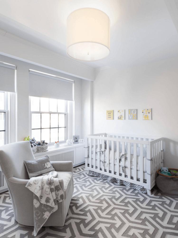 Habitaciones ni os recien nacidos modernas decoraci n for Decoracion pared bebe nino