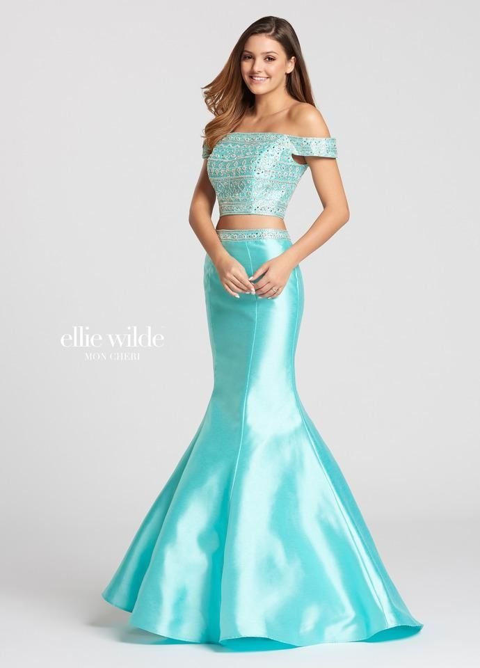 Ellie Wilde Ew118120 All Dressed Up Prom Dress Prom Blue