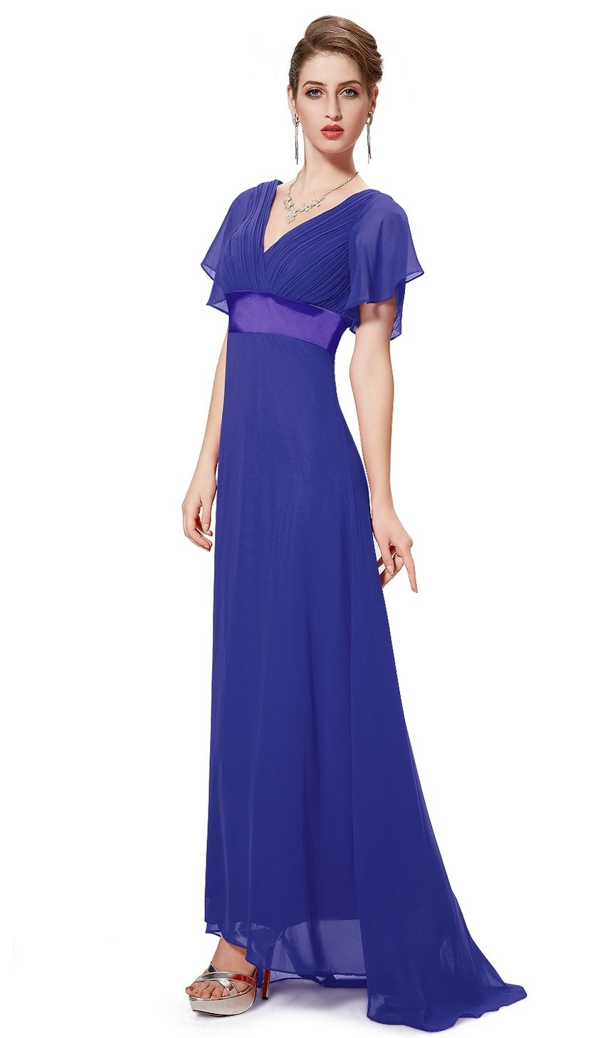 d3983ef9837a Ever-Pretty Womens V-Neck Vintage Plus Size Evening Homecoming Party  Bridesmaid Wedding Dress for Women 09890 Royal Blue US 16#Evening, #Size, # Party