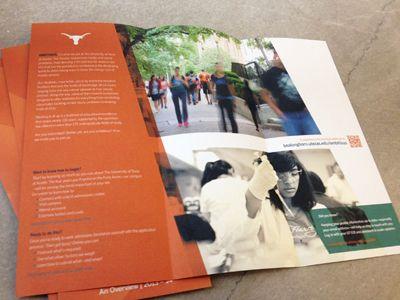 University Of Texas  Ambitious Brochure  Brochures Layout