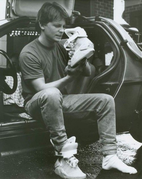 huge selection of 7ed43 c0beb Nike MAG Back to the Future Sneakers Being Auctioned For Charity ...