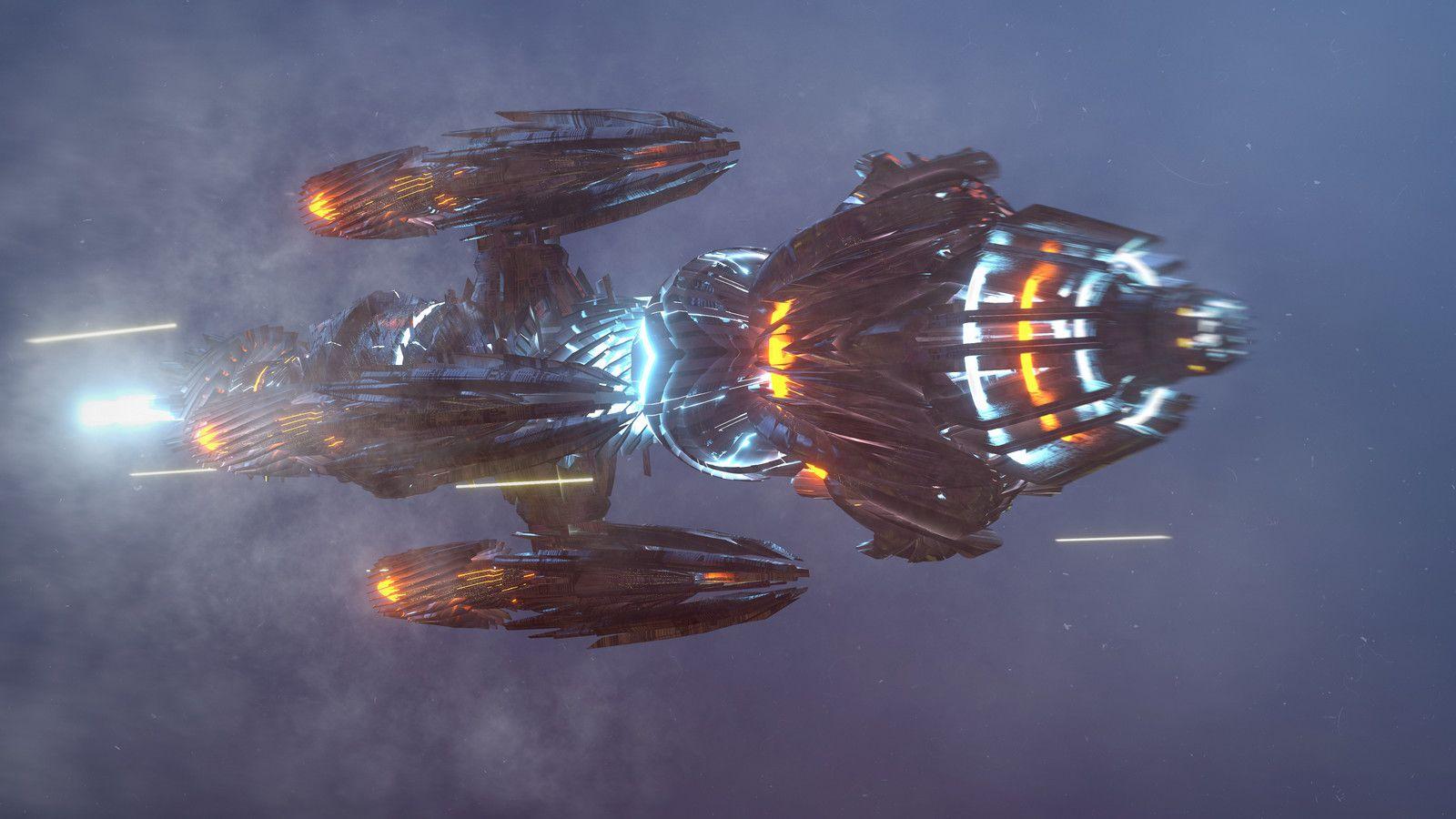 245-140616 starship, Kresimir Jelusic (robob3ar) on ArtStation at https://www.artstation.com/artwork/q63BR