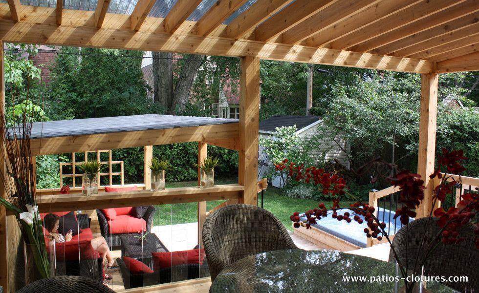 coin repas du patio avec polycarbonate proulx abri d 39 ext rieur pinterest refuges. Black Bedroom Furniture Sets. Home Design Ideas