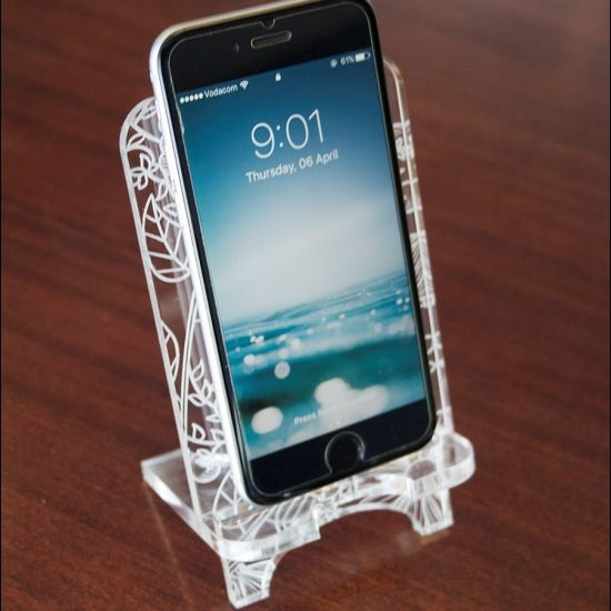 Cell Phone Stand Laser Cut Template, Pattern, Design