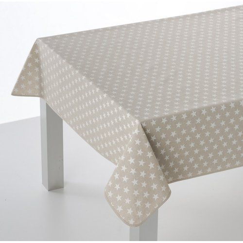 Zen Stars Oilcloth Tablecloth Girones Size 180 Cm W X 140