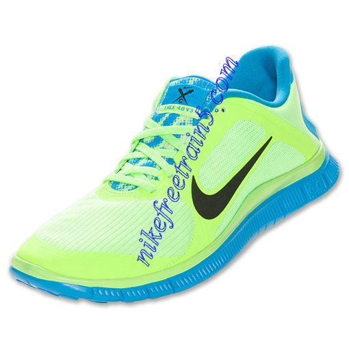 uk availability 2c52e d53cf ... Distance Blue Atomic Pink Lime Nike Free 4.0 V3 Mens Flash Lime Blue  Hero 579958 304 ...