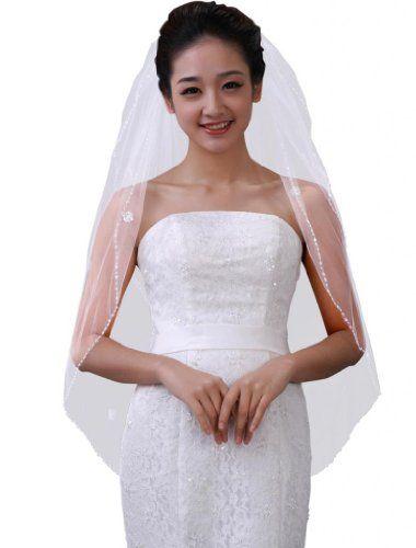 M4U bridals' two-tier beaded edged elbow wedding veil M4U,http://www.amazon.com/dp/B00GSL2WSS/ref=cm_sw_r_pi_dp_0VSdtb0KC6ED6RQR