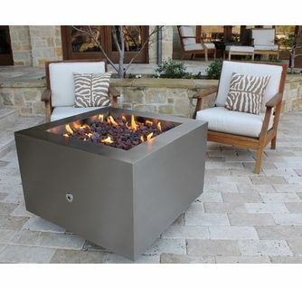 Legato Stainless Steel Fire Pit Natural Gas Or Remote Propane