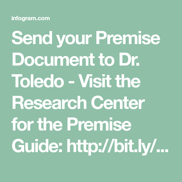 Send Your Premise Document To Dr Toledo Visit The Research Center For Guide Http Bit Ly Premiseguide Centre Teaching Dissertation