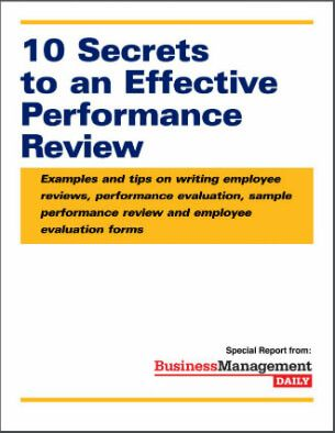 10 Secrets to an Effective Performance Review Examples and tips - Sample Performance Evaluation