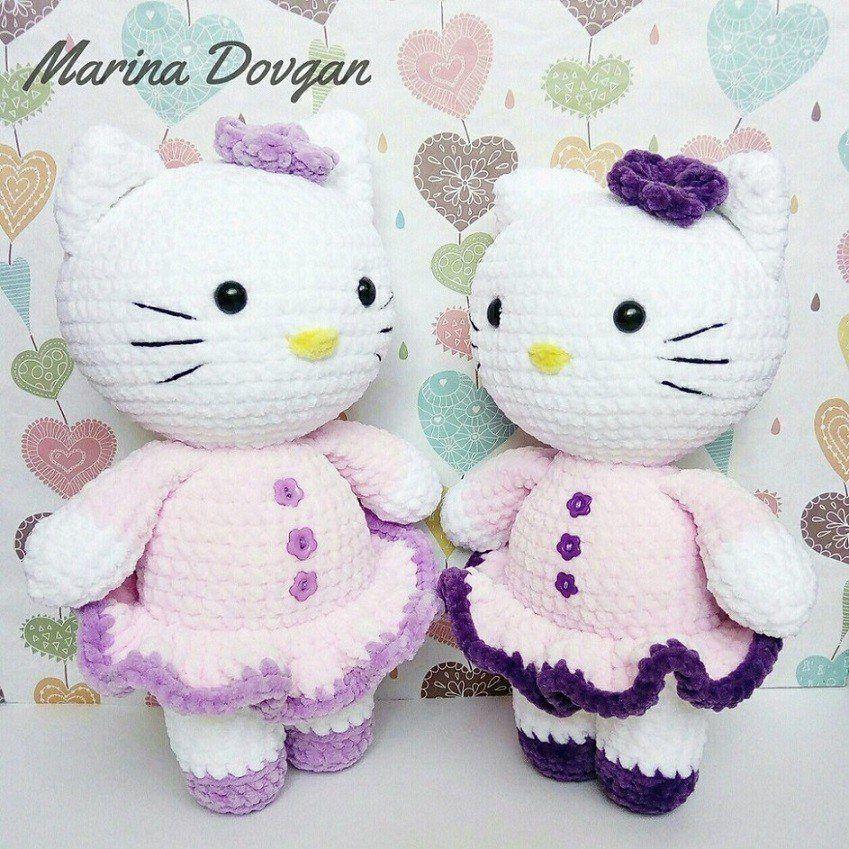 Crochet cat Hello Kitty amigurumi | BOLY | Pinterest