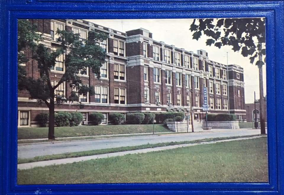 The Front Of Harding Junior High School Circa 1967 Location East Side Of North 6th Street Between Dayton And Bu Hamilton High School Junior High School Ohio