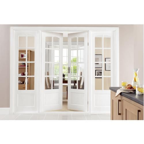 Wickes Newland Internal French Doors Pine Glazed 8 Lite 1981 X