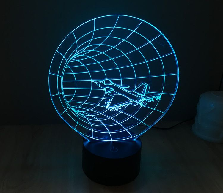 7 Colors 3d Time Machine Led Illusion Space Table Lamp Night Light Balloonsale Us 3d Led Lamp Night Light Lamp Lamp