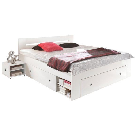 BETTANLAGE in Holzwerkstoff Weiß - Betten - Schlafen - Produkte