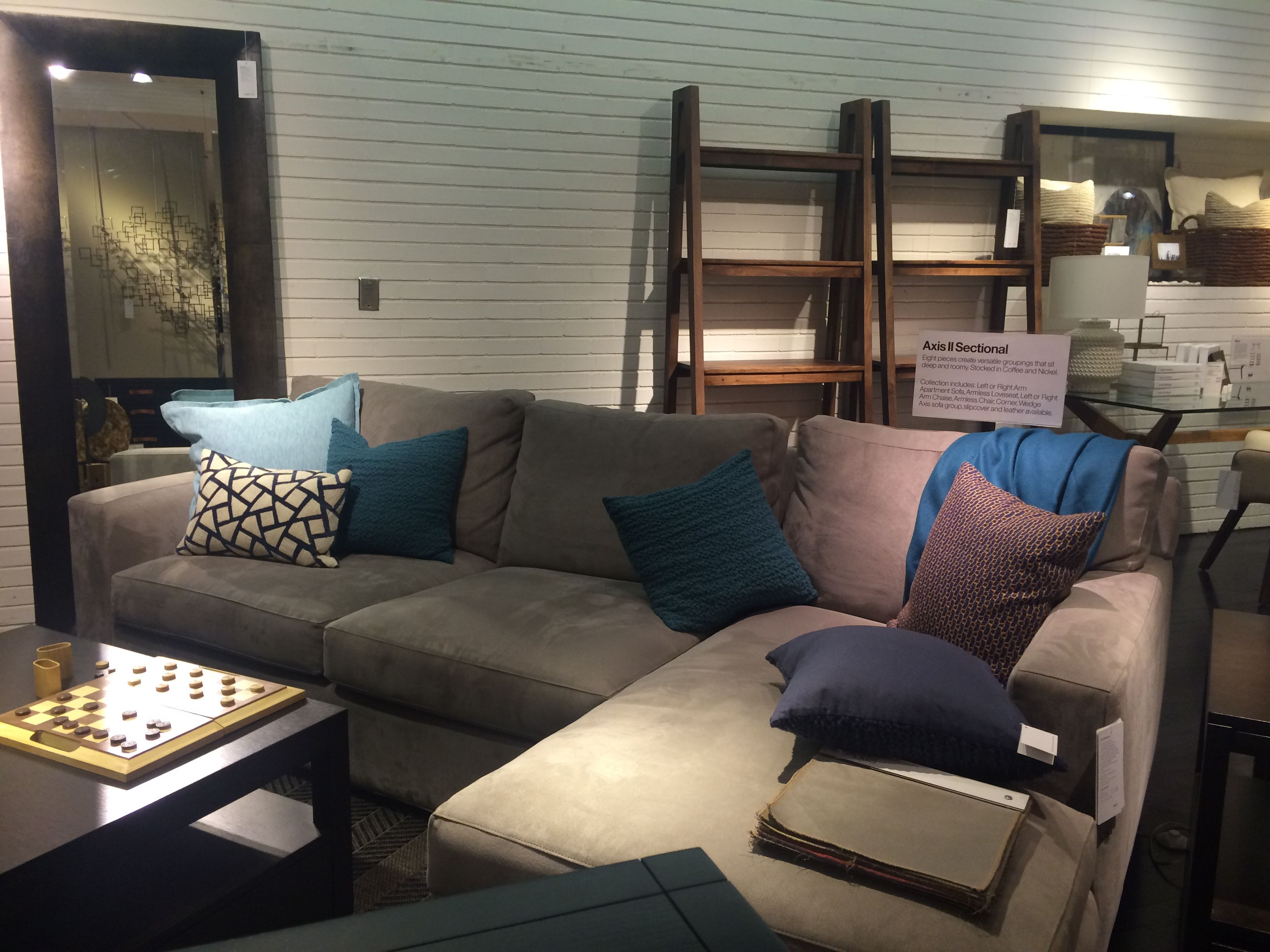 Crate And Barrel Axis Ii Sectional 2698 Sectional Sectional