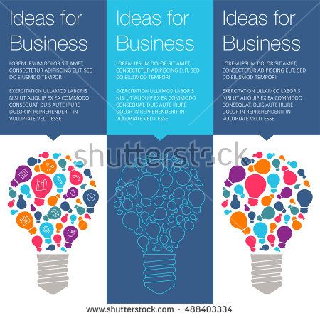Vector banner with light bulb of idea  Vertical banner for education