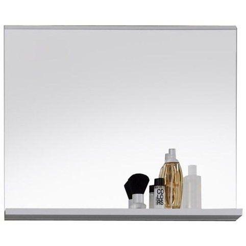 Miroir de salle de bain rectangulaire avec tablette 60 cm 60;, 3