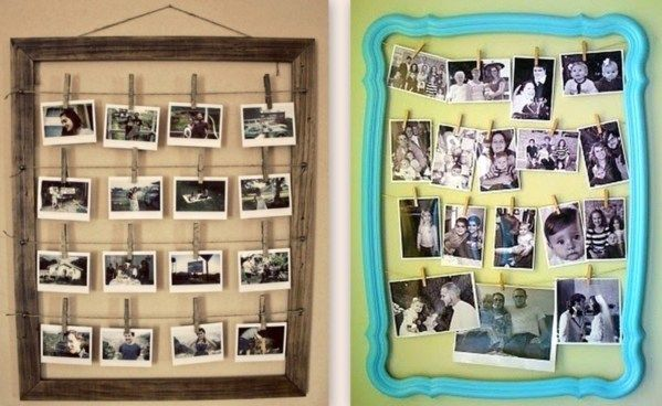 Célèbre Porte-photos originaux à faire soi-même | anniv_1_an | Pinterest  RI94