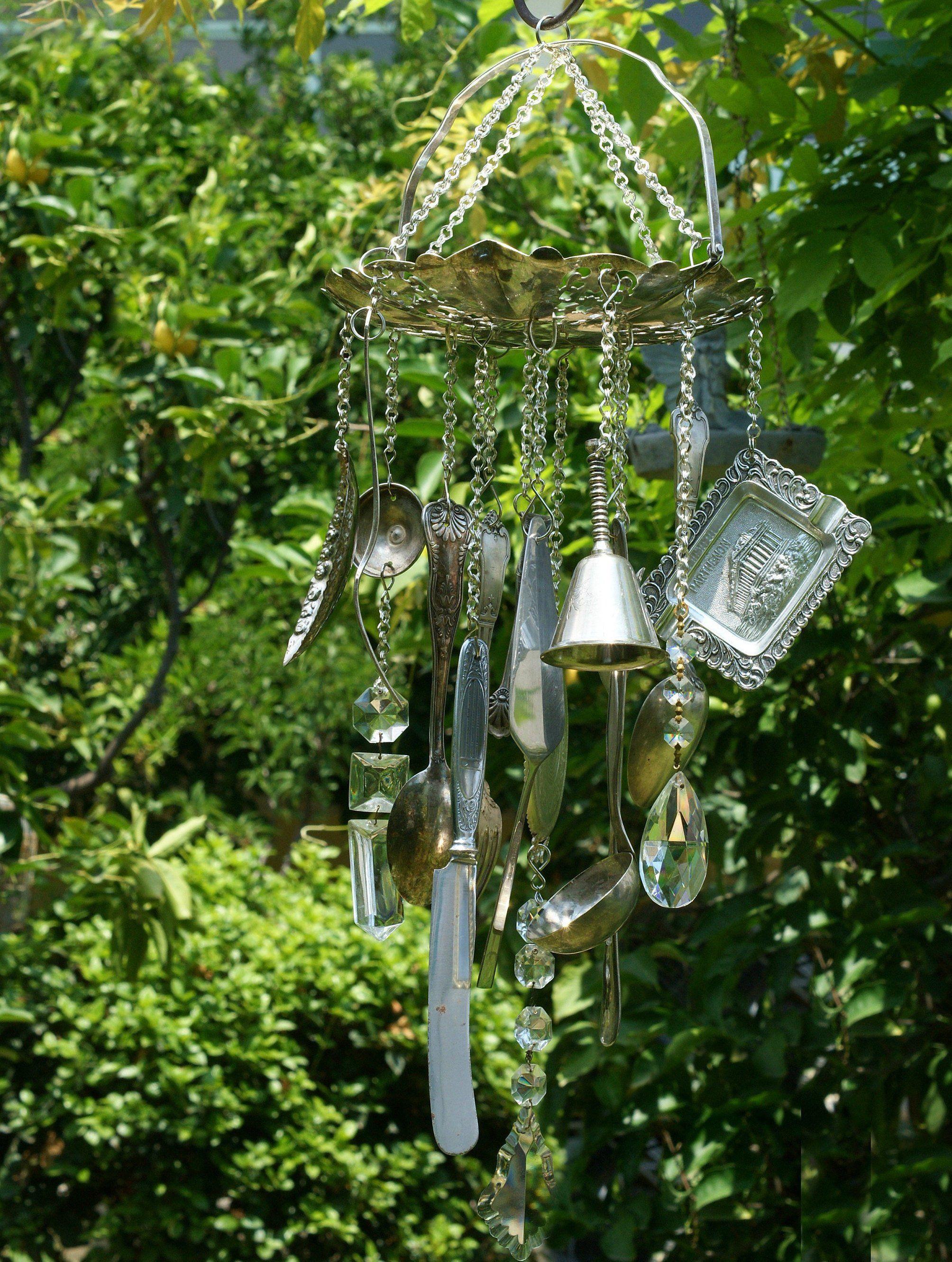 Sa wedding decor images  Wind Chime Repurposed Silverware Wind Chime Windchimes Garden