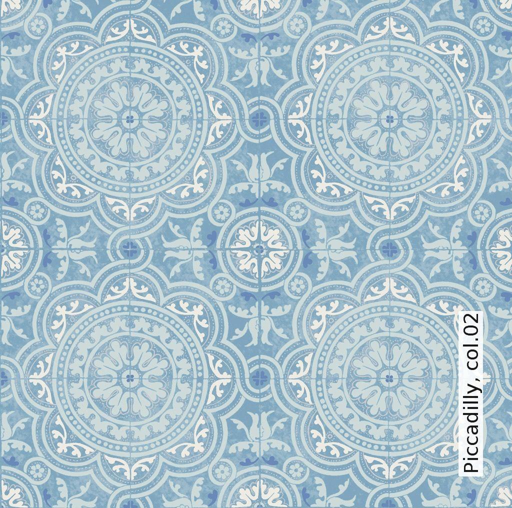 Piccadilly tapeten tapeten fliesen und hellblau - Orientalische wandgestaltung ...