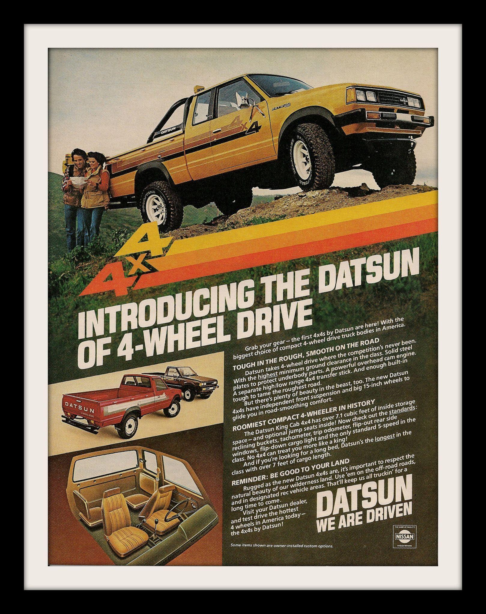 1980 Datsun King Cab Pickup 4x4 Truck Ad Pinterest Dodge Brochure