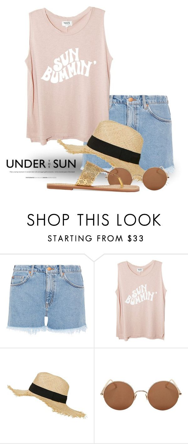 """Sun Bum (tfp) 1698"" by boxthoughts ❤ liked on Polyvore featuring M.i.h Jeans, Topshop, Sunday Somewhere, Tory Burch and tfp"