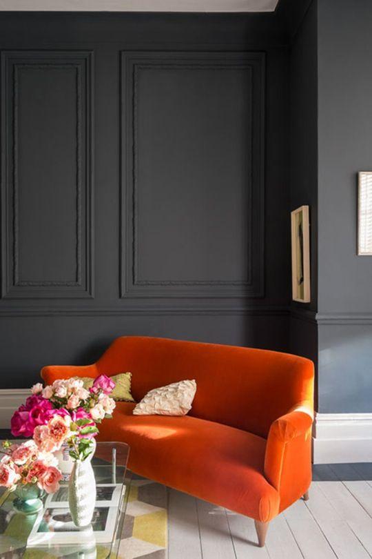 urbnite Wandfarben Pinterest Dachausbau, Wandfarben und - wohnzimmer orange schwarz