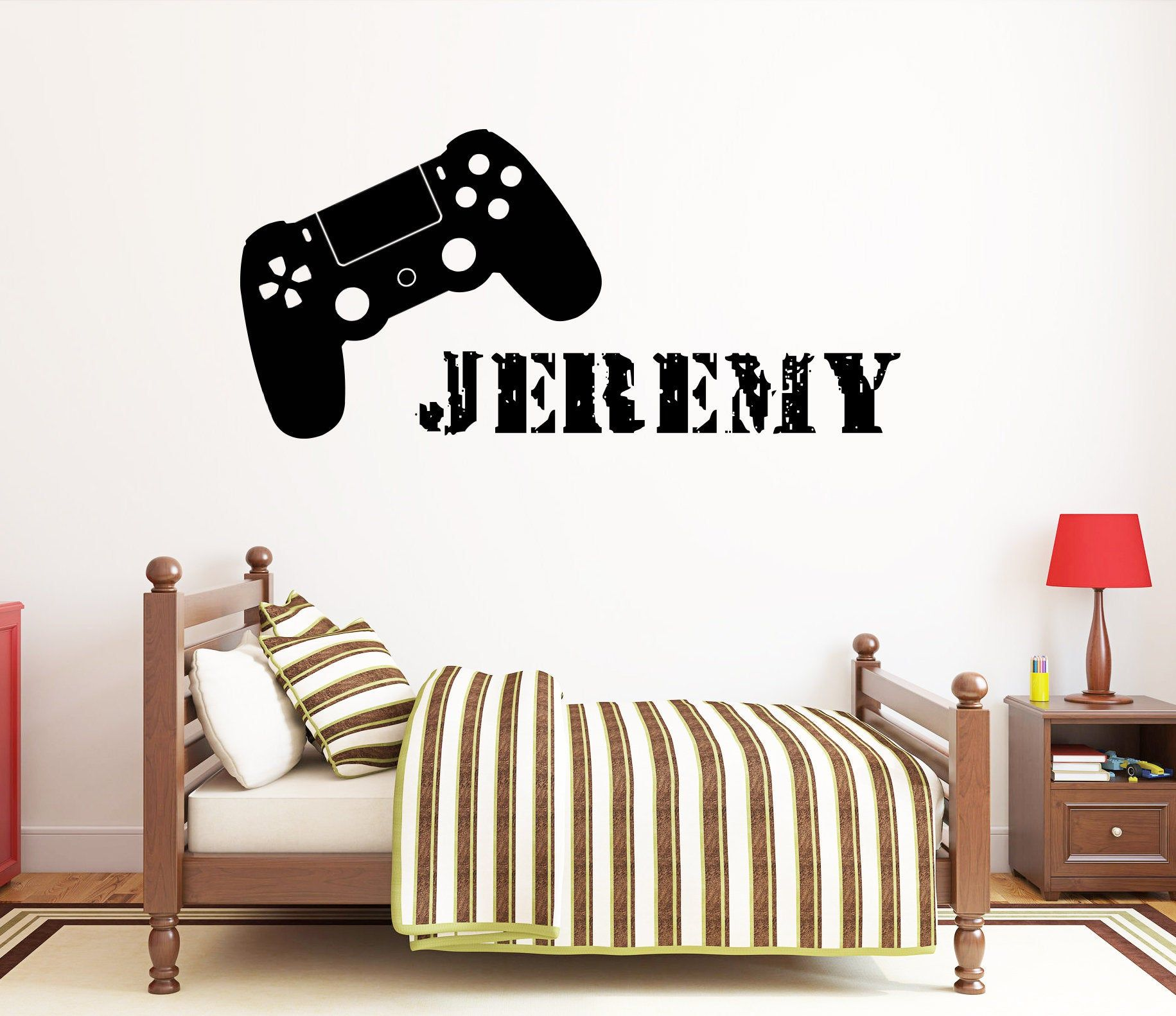 Gamer Wall Decal Video Games Wall Sticker Playstation Ps4 Etsy Baby Room Decals Wall Decals Wall Sticker