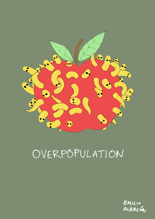 Overpopulation. Illustration by Emilio Alarcón.