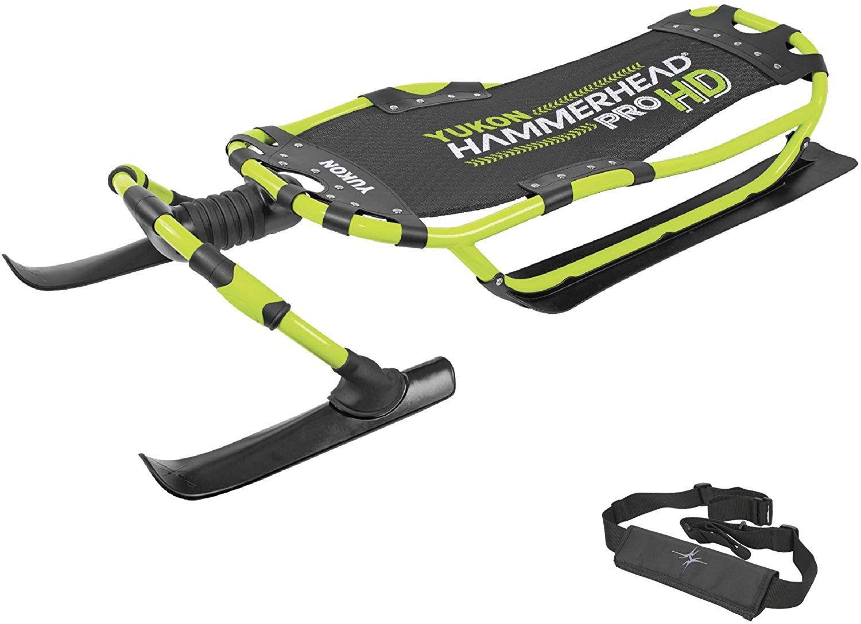 Yukon Hammerhead Pro HD Steerable Snow Sled with Aluminum
