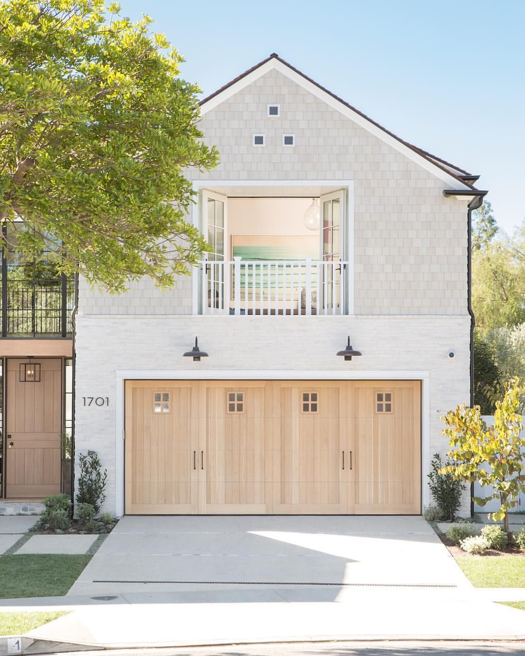 Garage Door Landscaping Ideas: •These Natural Cedar, Carriage Inspired Doors Are The